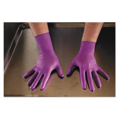 KIMTECH PURPLE NITRILE-XTRA Exam Gloves, Beaded Cuff, Large, Purple
