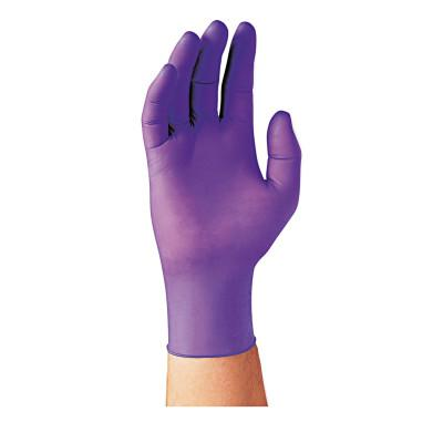 KIMTECH Purple Nitrile Exam Gloves, Beaded Cuff, Unlined, Large