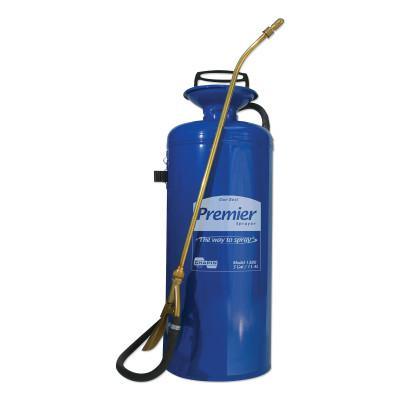 CHAPIN Premier Pro Tri-Poxy Steel Sprayer, 3 gal, 18 in Extension, 42 in Hose, Blue
