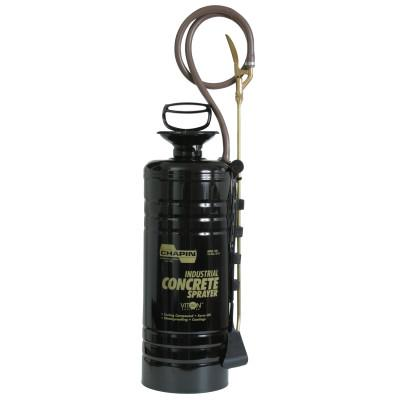 CHAPIN 3.5 gal Ind Viton Concrete Funnel Top Sprayer, Black, 24 in Wand, 48 in Hose