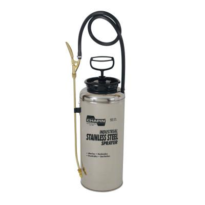 CHAPIN Stainless Steel Sprayer, 3 gal, 18 in Extension, 42 in Hose