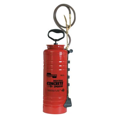 CHAPIN 3.5 gal Ind Viton Concrete Open Head Sprayer, Red, 24 in Wand, 48 in Hose