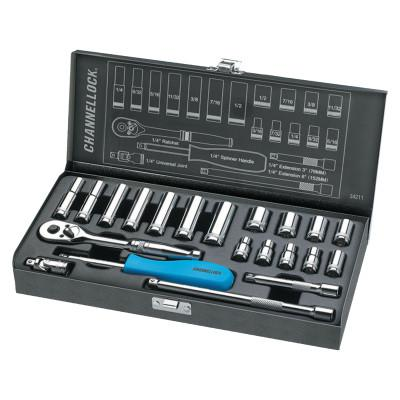 CHANNELLOCK 21 Piece Mechanic's Tool Sets, 1/4 in, SAE