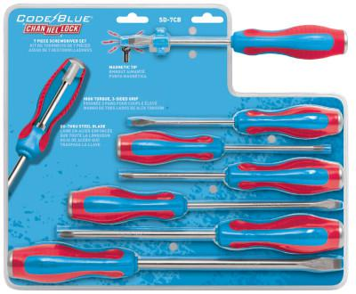 CHANNELLOCK Screwdriver Sets, (3) Phillips; (4) Slotted