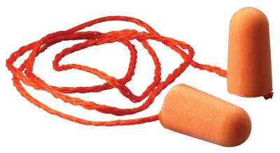 3M Foam Earplugs, Foam, Bright Orange, Corded Tapered