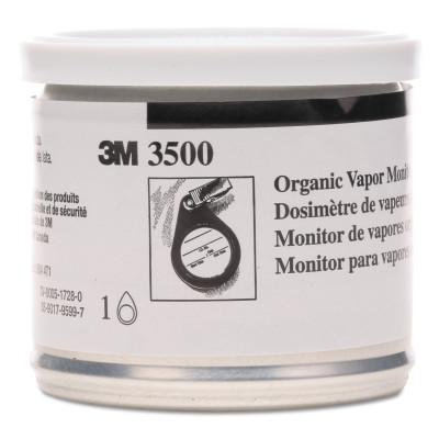 3M Organic Vapor Monitor w/Charcoal Pad, 3500, 11 g