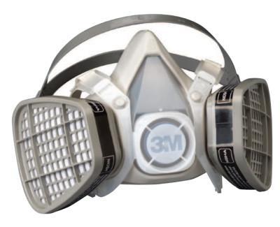 3M 5000 Series Half Facepiece Respirators, Small, Organic Vapors