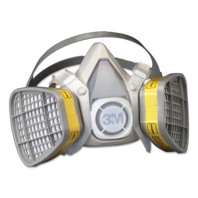 3M 5000 Series Half Facepiece Respirators, Small, Organic Vapors/Acid Gases