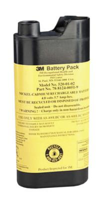 3M OH&ESD Airstream Headgear-Mounted PAPR Intrinsically Safe Battery, AS-400LBC;AS-600LBC