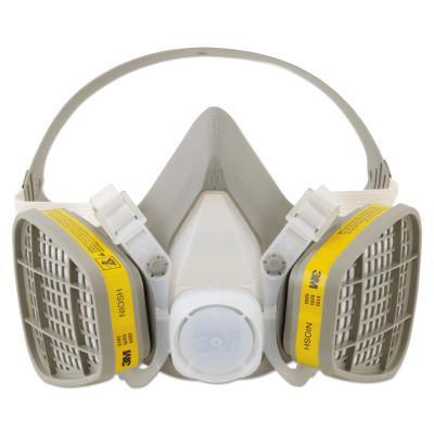 3M 5000 Series Half Facepiece Respirators, Medium, Organic Vapors/Acid Gases