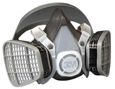 3M 5000 Series Half Facepiece Respirators, Large, Organic Vapors