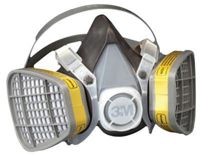 3M 5000 Series Half Facepiece Respirators, Large, Organic Vapors/Acid Gases