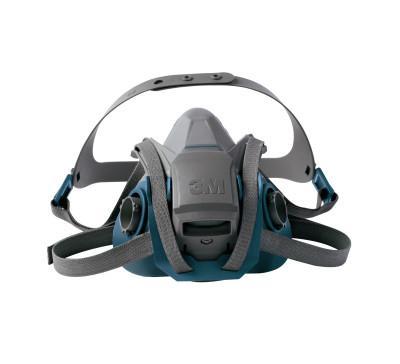 3M Rugged Comfort Quic-Latch Half-Facepiece Reusable Respirators, Small