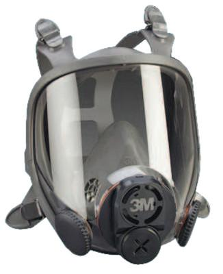 3M Full Facepiece Respirator 6000 Series, Large, DIN Thread Port