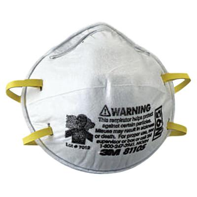 3M N95 Particulate Respirators, Half Facepiece, Two fixed straps, Sm