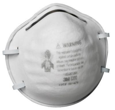 3M N95 Particulate Respirators, Half Facepiece, Two straps, Non-Oil Use