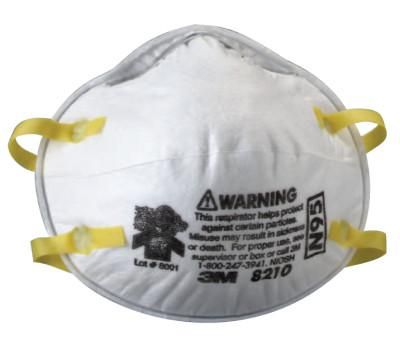3M N95 Particulate Respirators, Half Facepiece, Filter, One Size