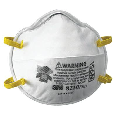 3M N95 Particulate Respirators, Half Facepiece, Non-Oil based filter