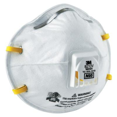 3M N95 Particulate Respirators, Half Facepiece, Non-Oil Filter, One Size