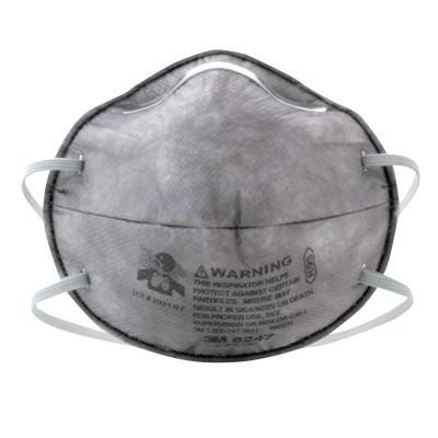 3M R95 Particulate Respirators, Half Facepiece, w/carbon layer, Oil/non-oil
