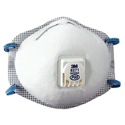 3M P95 Particulate Respirators, Half Facepiece, Oil/non-oil particles