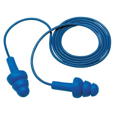 E-A-R Ultrafit Metal Detectable Earplugs, Polyurethane, Blue, Corded