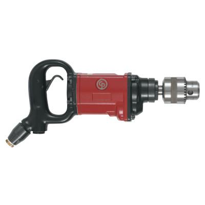 CHICAGO PNEUMATIC D-Handle Industrial Drills, 5/8 in Chuck, 1 hp, 800 rpm