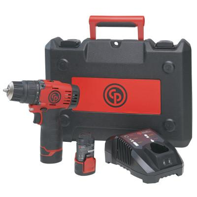 CHICAGO PNEUMATIC Cordless Drill Driver Kit CP8528K, 1/16 in - 3/8 in Chuck, 288 in lb Torque