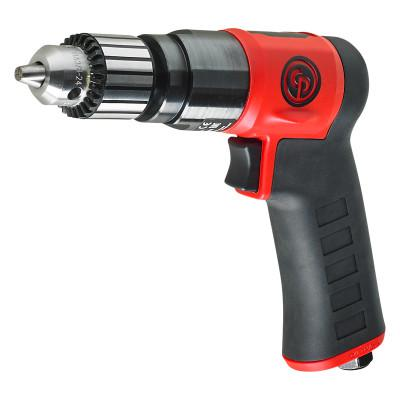 CHICAGO PNEUMATIC Pistol Drills, 3/8 in Chuck, Keyed, 0.6 hp, 3000 RPM