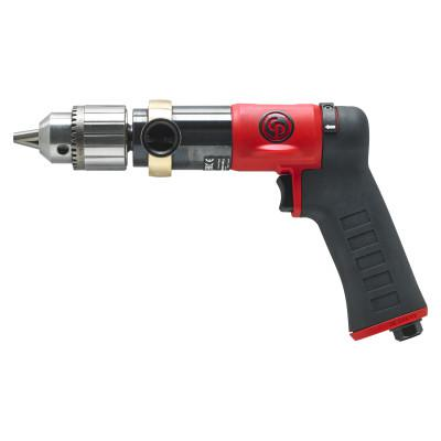 CHICAGO PNEUMATIC CP9789C Pistol Drill, 1/2 in Chuck, 840 rpm, Keyed Metal