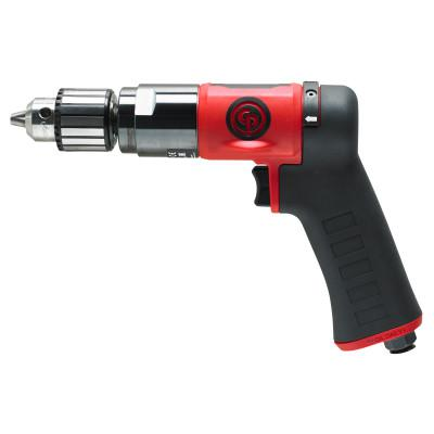 CHICAGO PNEUMATIC CP9790C Pistol Drill, 3/8 in Chuck, 2,100 rpm, Keyed Metal