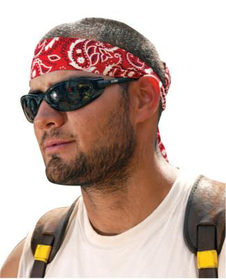 ERGODYNE Chill-Its 6700 Evaporative Cooling Bandanas, 8 in X 13 in, Red Western