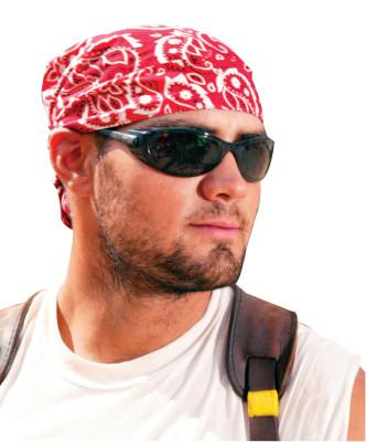 ERGODYNE Chill-Its 6710 Evaporative Cooling Triangle Hats, 8 in X 13 in, Red Western