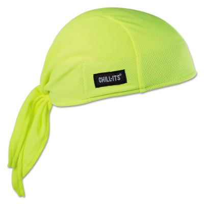 ERGODYNE Chill-Its 6615 High-Performance Dew Rags, 6 in X 20 in, Hi-Vis Lime