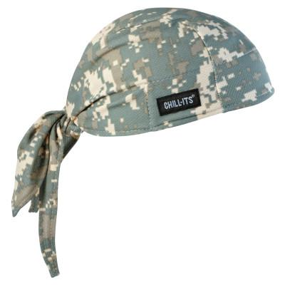 ERGODYNE Chill-Its 6615 High-Performance Dew Rags, 6 in X 20 in, Camo