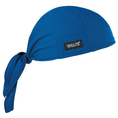 ERGODYNE Chill-Its 6615 High-Performance Dew Rags, 6 in X 20 in, Solid Blue