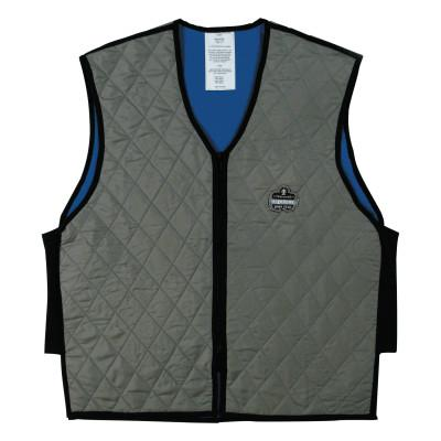 ERGODYNE Chill-Its 6665 Evaporative Cooling Vests, Large, Gray