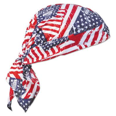 ERGODYNE Chill-Its 6710 Evaporative Cooling Triangle Hats w/Cooling Towel, Stars/Stripes