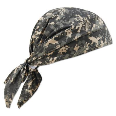ERGODYNE Chill-Its 6710CT Evaporative Cooling Triangle Hats w/ Cooling Towel, Camo