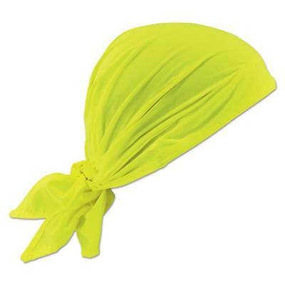 ERGODYNE Chill-Its 6710CT Evaporative Cooling Triangle Hats w/ Cooling Towel, Hi-Vis Lime