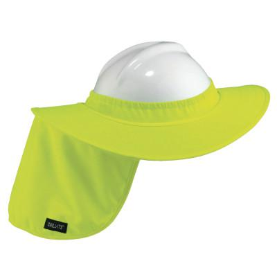 ERGODYNE Chill-Its Hard Hat Brim with Shade, Lime Green