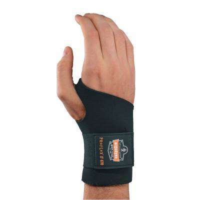 ERGODYNE ProFlex® 670 Ambidextrous Single Strap Wrist Support, Small, Black