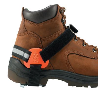 ERGODYNE TREX Strap-On Heel Ice Traction Device, Medium/Large, Steel, Black