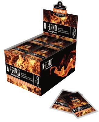 ERGODYNE N-Ferno Warming Packs, Foot, 5 in x 2 in, Non-Woven Fabric Polyethylene