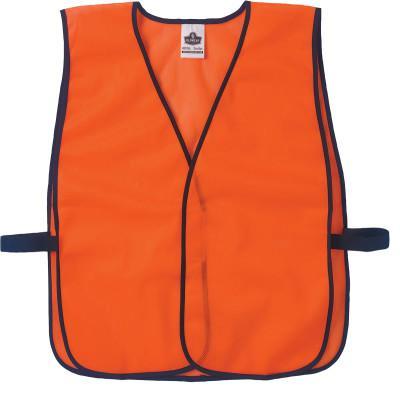 ERGODYNE GloWear Non-Certified Vests, 8010HL, One Size, Orange