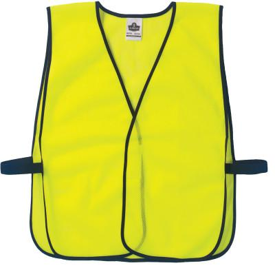 ERGODYNE GloWear Non-Certified Vests,  8010HL, One Size, Lime