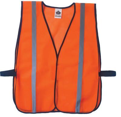 ERGODYNE GloWear 8020HL Non-Certified Standard Safety Vests, One Size, Orange