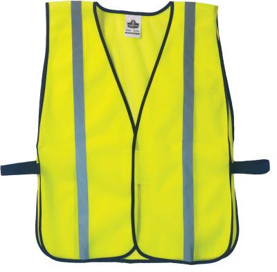 ANCHOR BRAND Non-Certified Standard Safety Vests, One Size, Lime