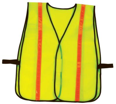 ERGODYNE GloWear Non-Certified Vests, 8040HL, One Size, Lime, Hi-Gloss