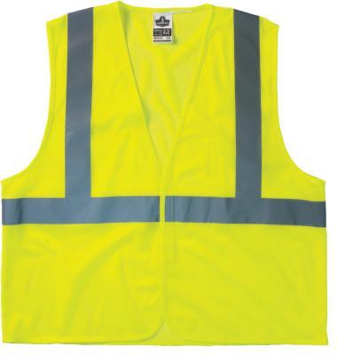 ERGODYNE GloWear 8205HL Class 2 Super Econo Vests, Hook/Loop Closure, S/M, Orange